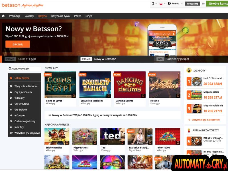Kasyno Betsson - Nasza Opinia