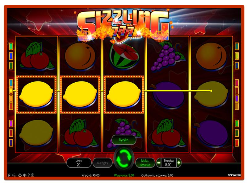 Automaty do Gry - Sizzling 777